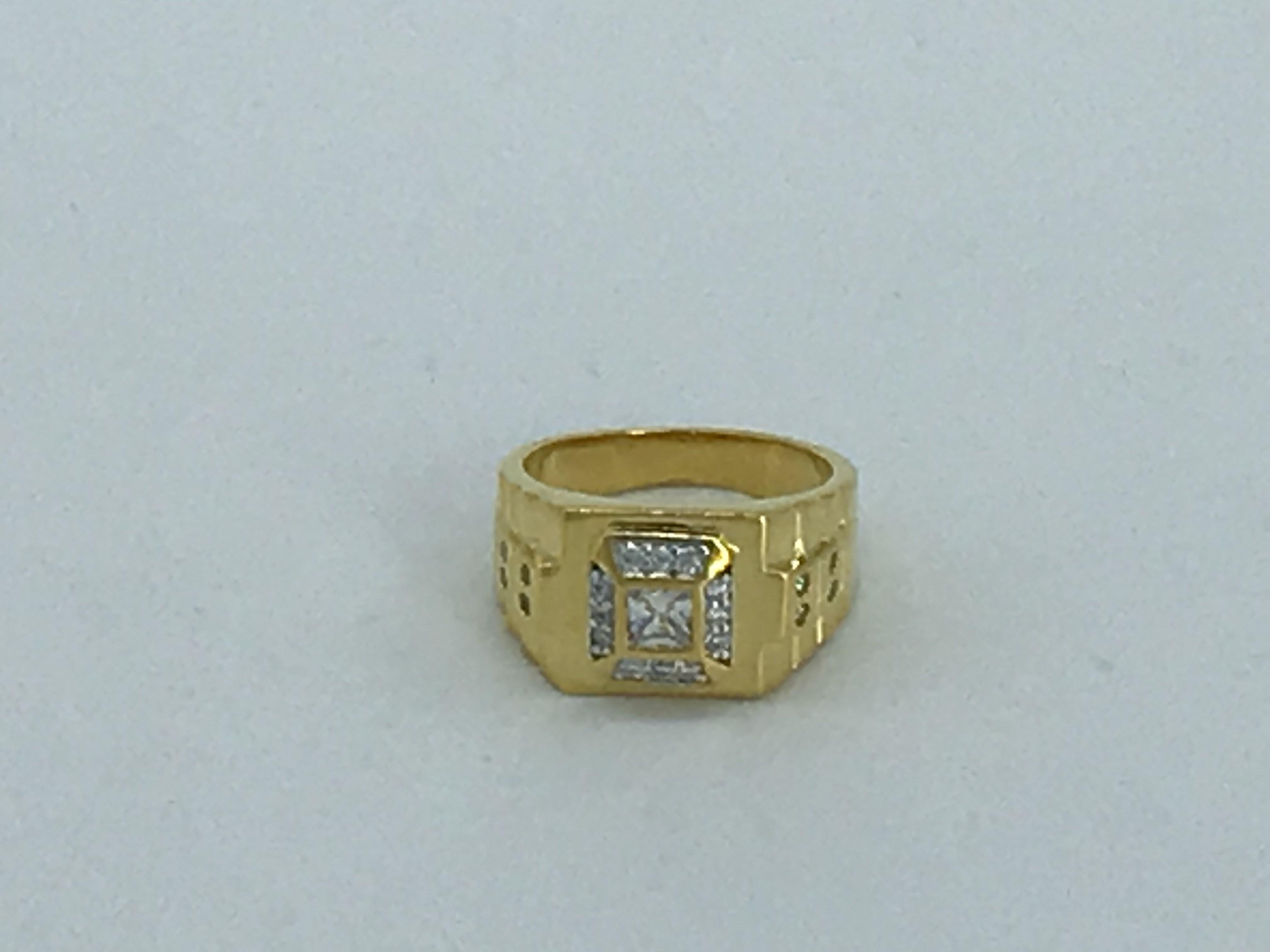 anello placcato oro uomo